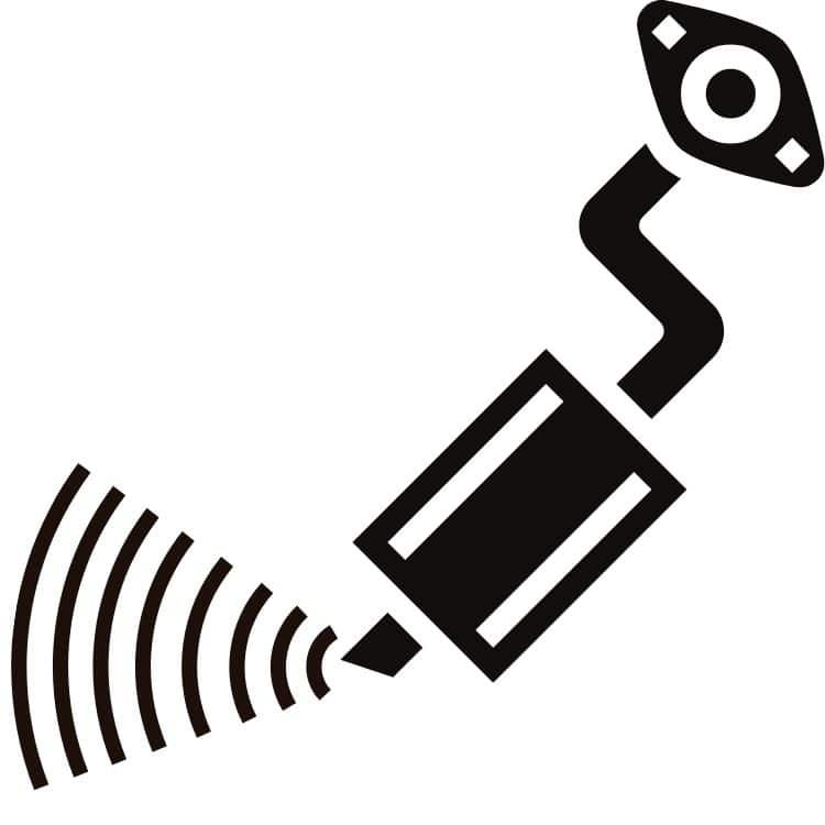 uitlaat geluid